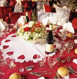 Chemin de table chemin de tables en fibre set de table - Chemin de table pour table ronde ...
