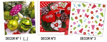 Serviettes papier décor Noel suite
