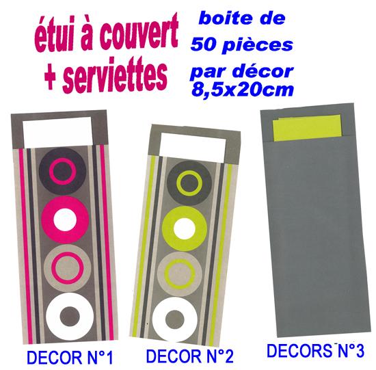 pochettes couverts serviette en papier articles de f tes d coration et art de la table. Black Bedroom Furniture Sets. Home Design Ideas