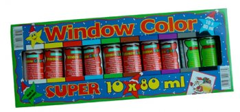 Coffret Window Color, 10 couleurs assorties