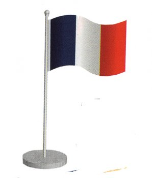 Centre de table drapeau de la France