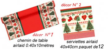 Chemin de table Noël Traditionnel