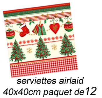 Serviette non tissé Noël Traditionnel