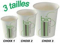 GOBELETS CARTONS BIODEGRADABLE