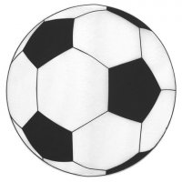 Set de table ballon de football - Lot de 6
