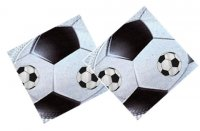 Serviettes ballon de football - Lot de 20
