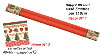 Nappe non tissé Noel Traditionnel