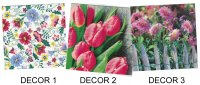 Serviettes en papier décors de printemps - Lot de 20